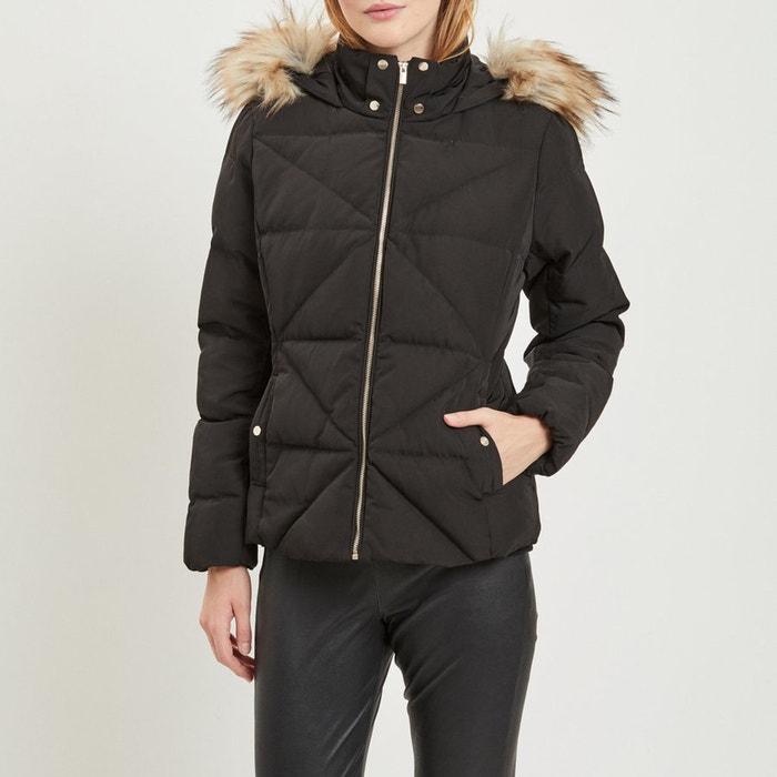 Boutique en ligne 5a67f 5d2b2 Chaqueta acolchada con capucha con pelo sintético