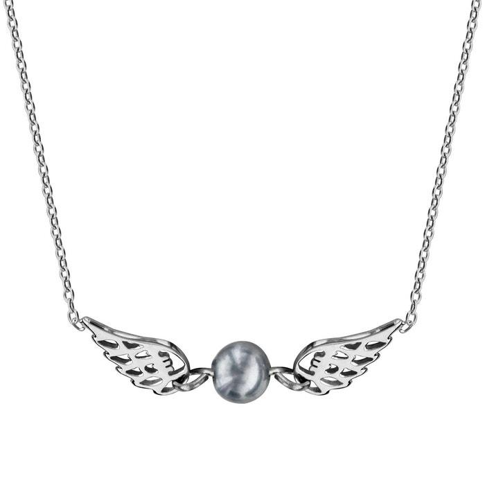 Collier longueur réglable: 38 à 42 cm 2 ailes ange perle grise argent 925 couleur unique So Chic Bijoux   La Redoute Acheter Pas Cher Choisir Un Meilleur Achat Vente Pas Cher ybmFbq8tGq