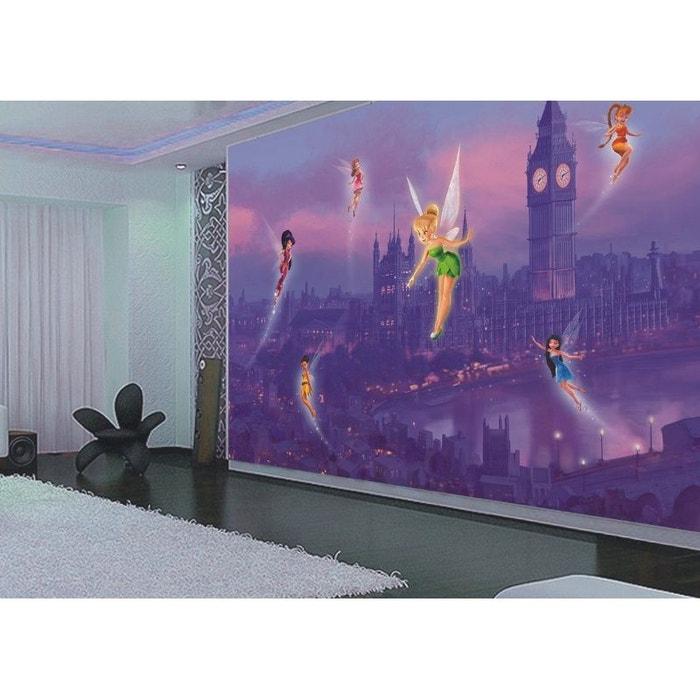 papier peint xxl f e clochette londres disney fairies 360x255 cm violet walltastic la redoute. Black Bedroom Furniture Sets. Home Design Ideas