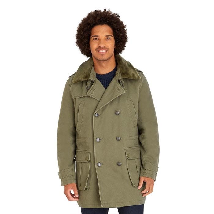 Manteau court avec col fourrure