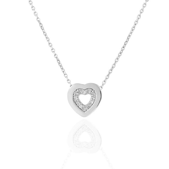 Collier or 375/1000 diamants 0,06 ct blanc Cleor | La Redoute