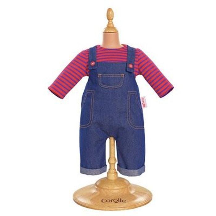 Ensemble bébé 42 cm : Salopette en jean COROLLE