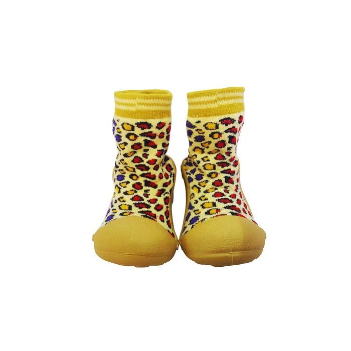nouveau concept ed0d8 e4309 Chaussons-chaussettes antidérapants LEOPARD