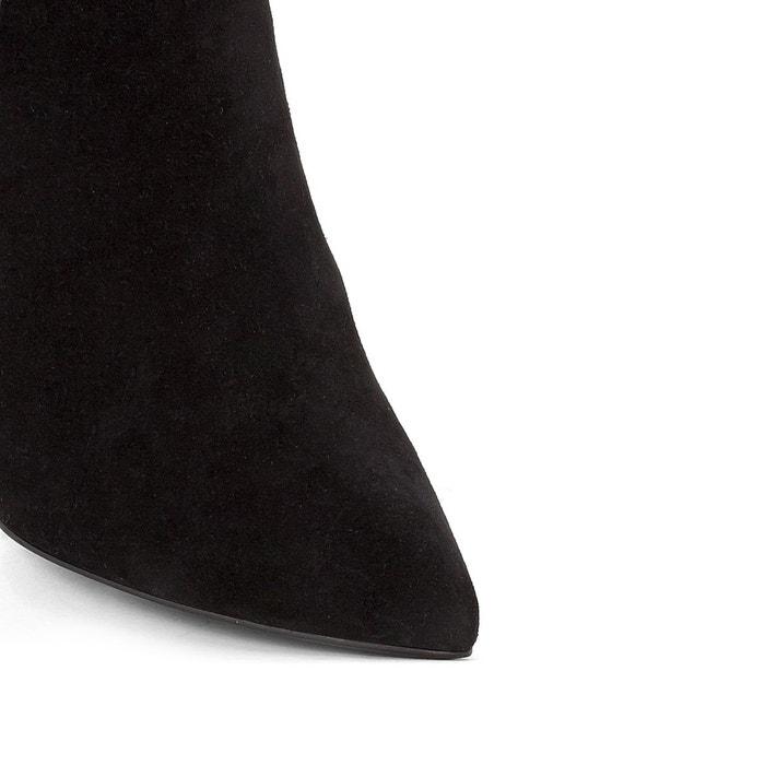 Chelsea cuir bout pointu noir La Redoute Collections