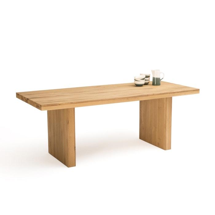 Vova Solid Oak Dining Table Seats 6 8 Oak La Redoute Interieurs La Redoute