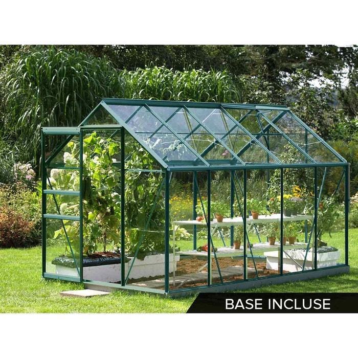 Serre de jardin en verre vénus 6,20 m² + base - vert Lams | La Redoute