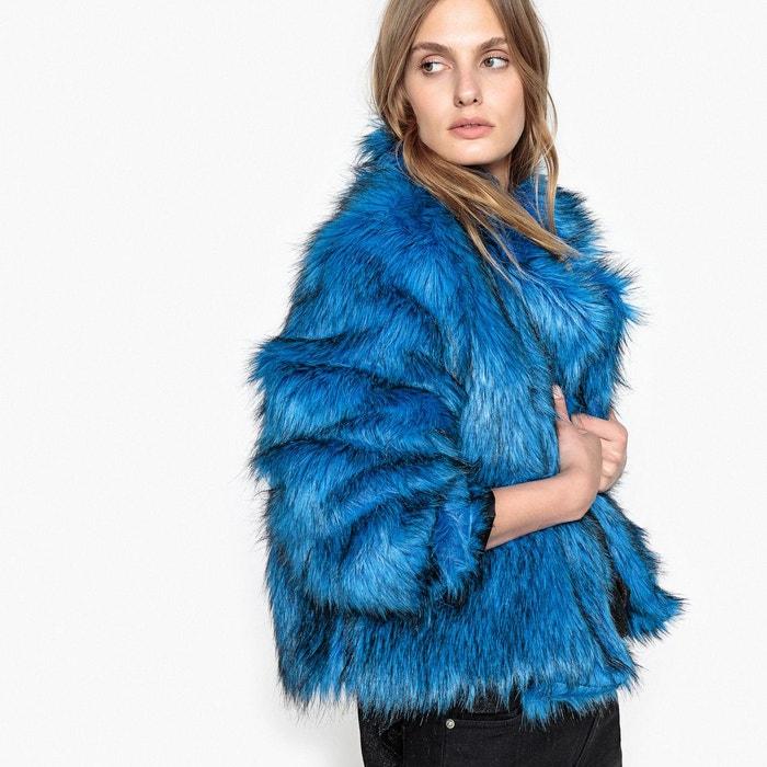 électrique synthétique en femme La Blouson fourrure Redoute bleu Bv8XqtT