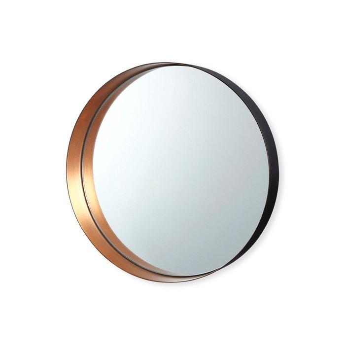 miroir rond en m tal couleur cuivre 26cm romy cuivre. Black Bedroom Furniture Sets. Home Design Ideas