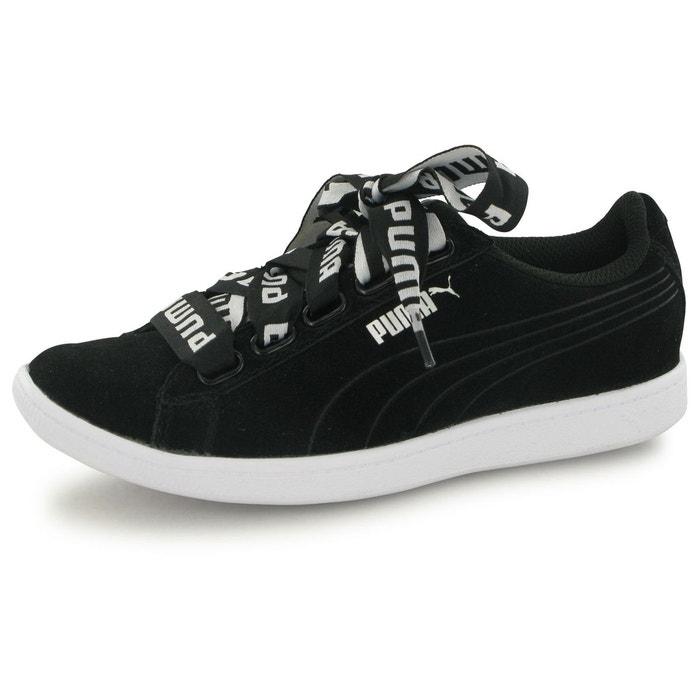 Puma Vikky Ribbon Noir - Chaussures Baskets basses