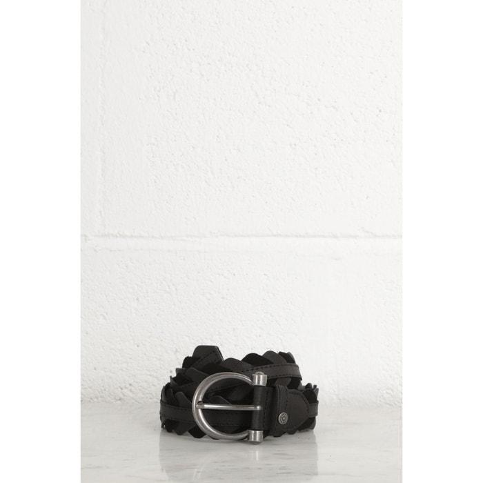 Ceinture cuir bimatière noir Bonobo   La Redoute 576882843d1