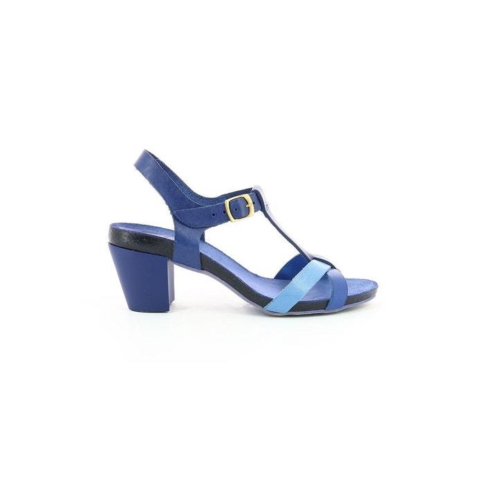 Sandale cuir femme pietrame blue/white Kickers Fourniture En Vente Prix Bas iX3NY1