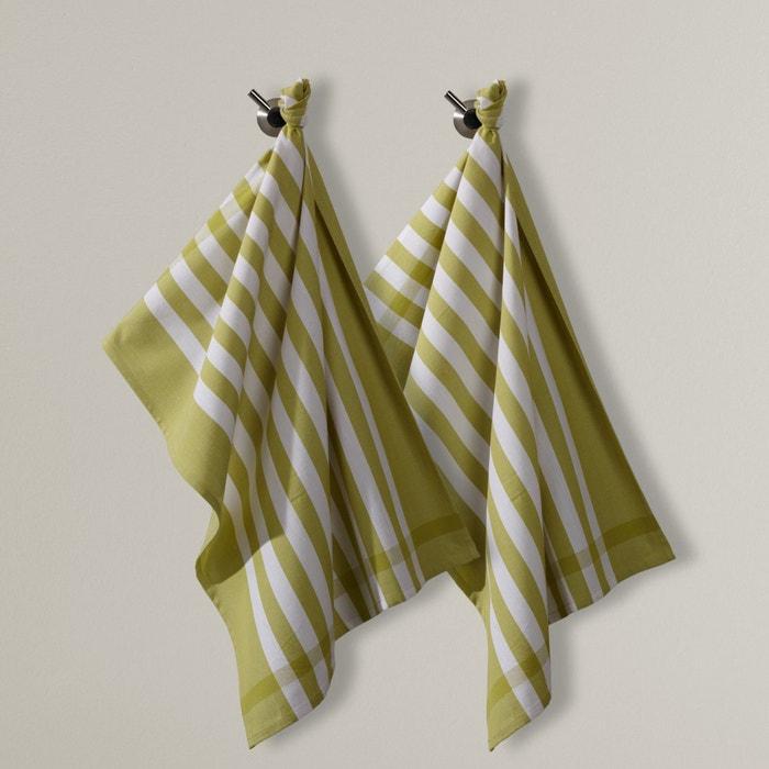 Paño a rayas de tejido tintado, lote de 2  La Redoute Interieurs image 0
