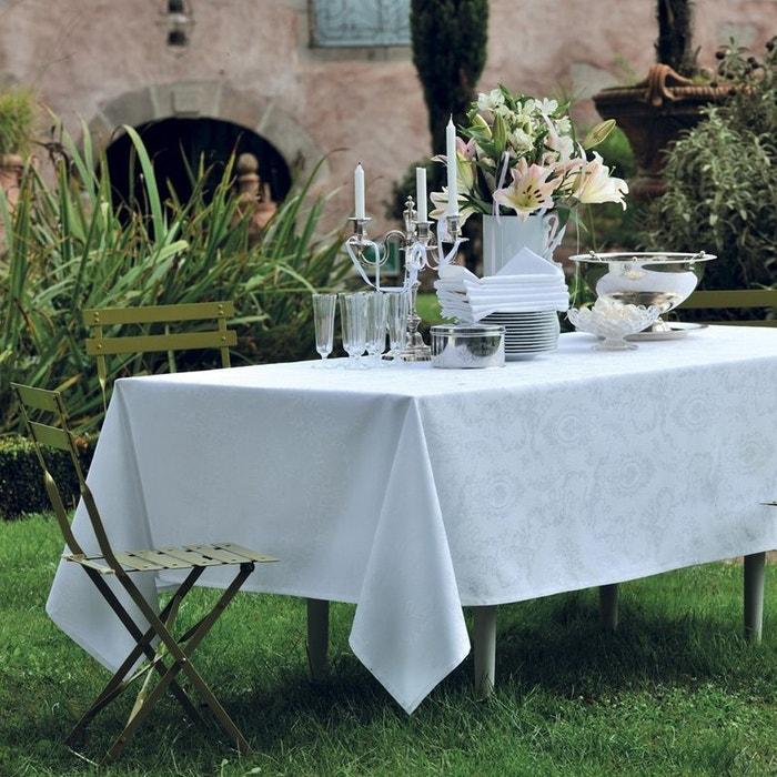 nappe mille rubans blanc blanc garnier thiebaut la redoute. Black Bedroom Furniture Sets. Home Design Ideas