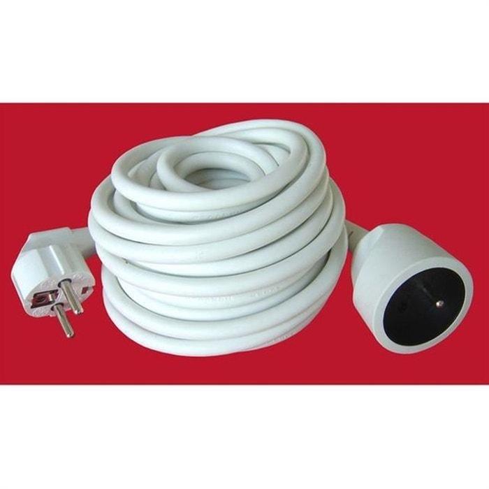 rallonge lectrique ho5vvf 3g 1 5 blanc 10m blanc philips la redoute. Black Bedroom Furniture Sets. Home Design Ideas