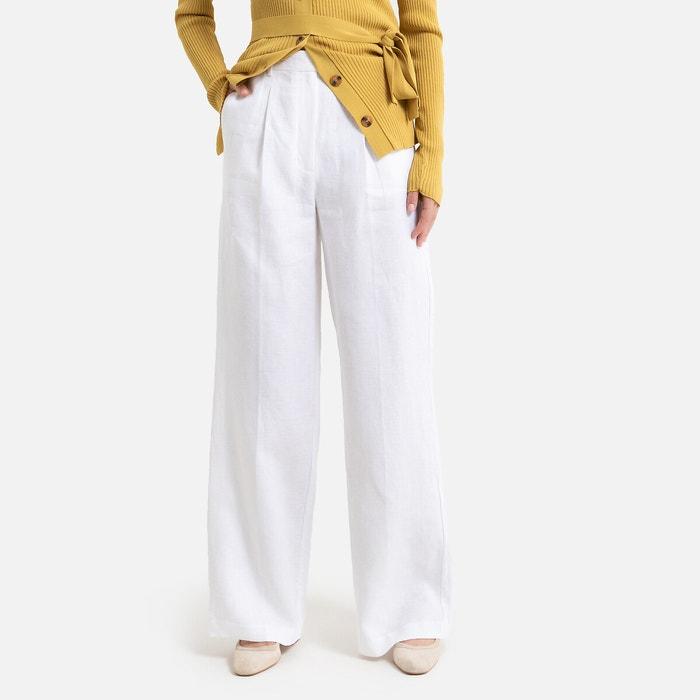 Wijde broek in zuiver linnen  LA REDOUTE COLLECTIONS image 0