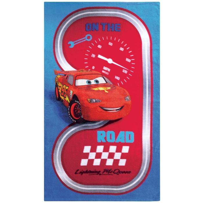 Drap De Plage Cars Road 70x120 Bleu Cars La Redoute