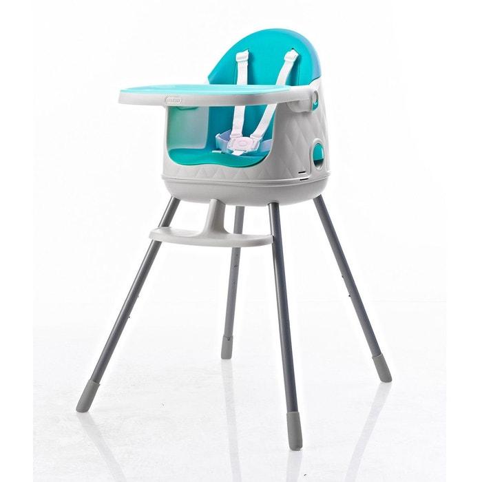 chaise haute volutive dine 3en1 blanc bleu baby to love la redoute. Black Bedroom Furniture Sets. Home Design Ideas