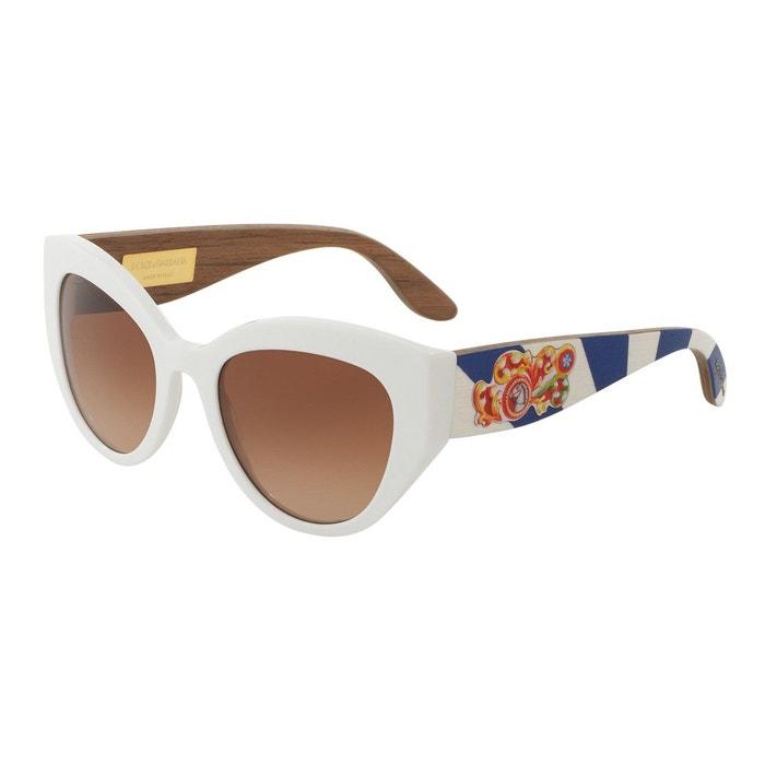 Lunettes de soleil dg4278 blanc Dolce Gabbana   La Redoute d339a4920c59