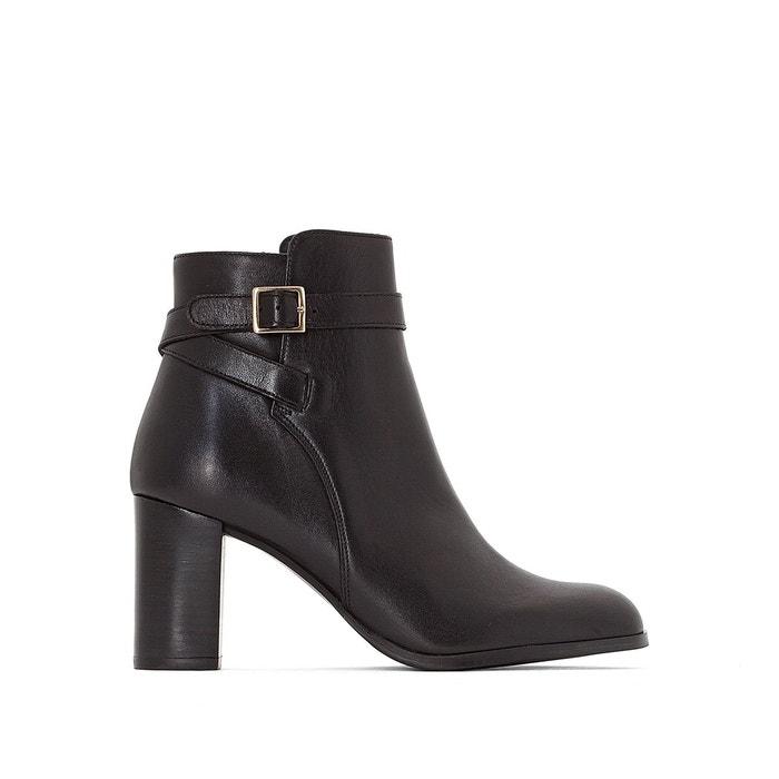 9a1aaae48586 Boots cuir akil noir Jonak