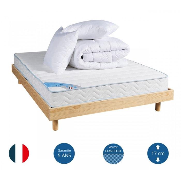 pack ensemble mousse m10 mi saison sommier kit naturel someo blanc someo la redoute. Black Bedroom Furniture Sets. Home Design Ideas