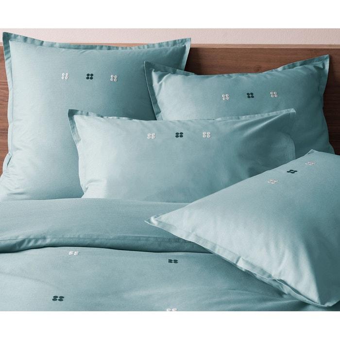 taie d 39 oreiller carr orage brod e de drag es 100 coton matt et rose orage orage matt et rose. Black Bedroom Furniture Sets. Home Design Ideas