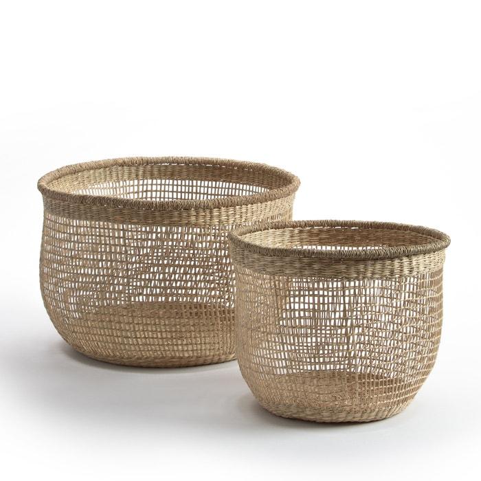 Image Set of 2 Cidarie Bamboo Baskets AM.PM.