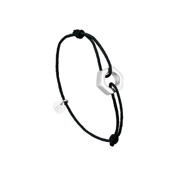 Bracelet cordon écrou en argent 925, 3.4g noir Clio Blue | La Redoute