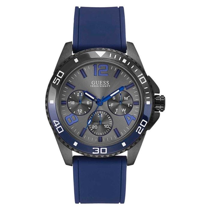 Montre en silicone bleu bleu Guess | La Redoute Stockiste Pas Cher Usa sdYX1q