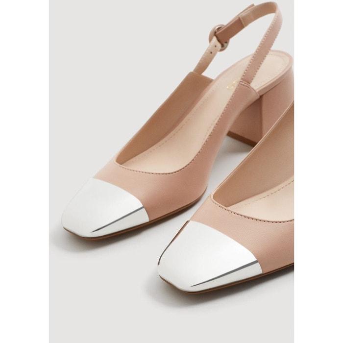 Chaussures bout métallique nude Mango