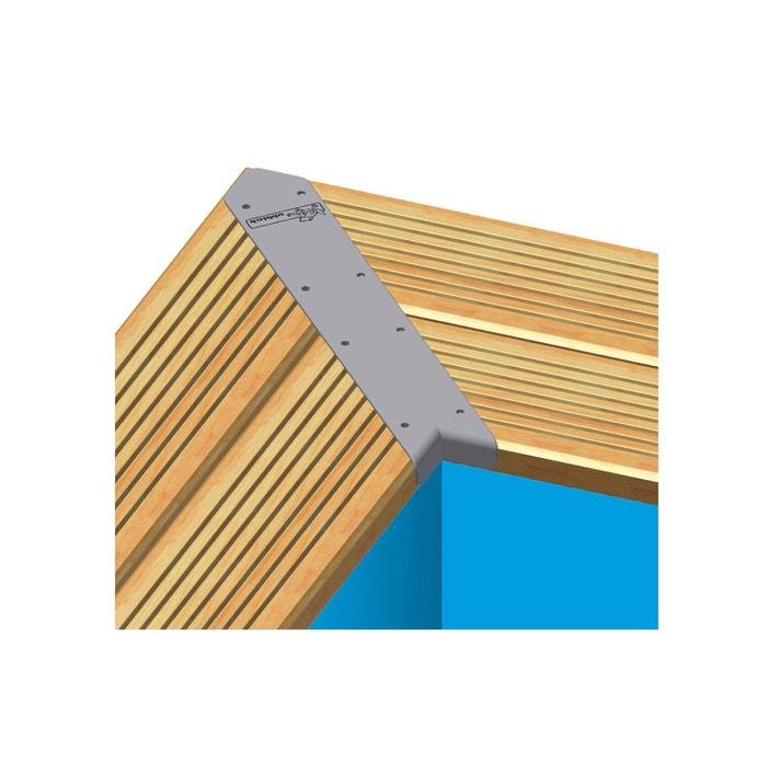 Kit Finition Margelles En Angle Pour Piscine Bois Rectangulaire   Ubbink  UBBINK Image 0