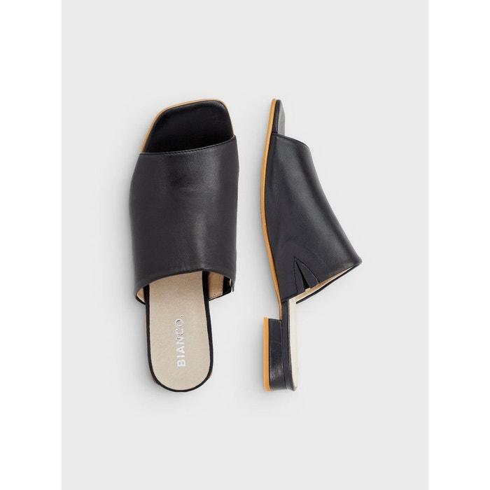 Bianco Mules Dressed Flat Heels