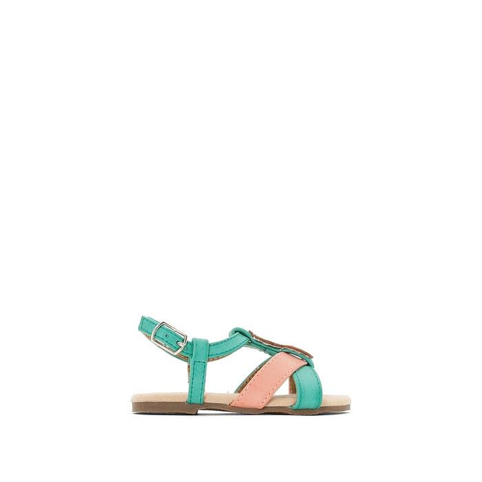 Sandálias com emblema ananás R mini