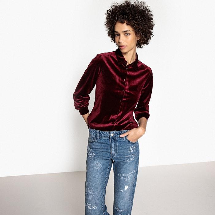 Image Camicia collo polo, camicia tinta unita, maniche lunghe La Redoute Collections