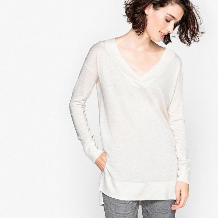 Sweter z dekoltem w serek z cienkiej dzianiny  La Redoute Collections image 0