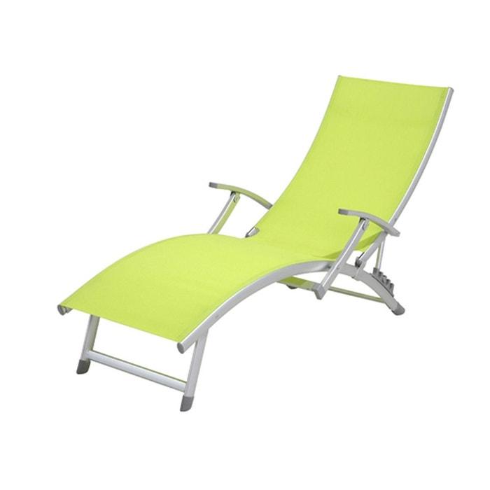 Transat Chaise Longue 4 Positions Ibiza Aluminium