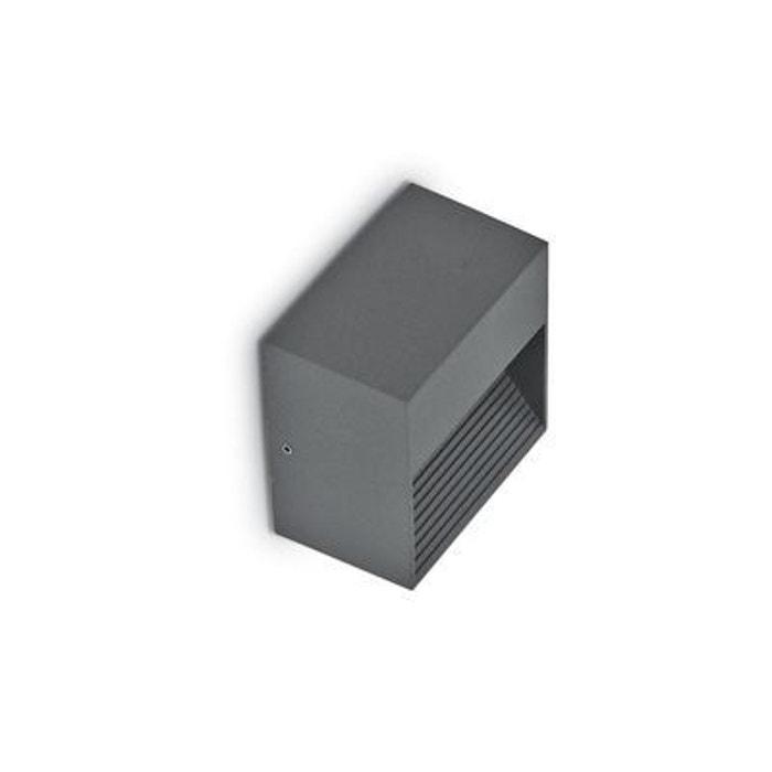 applique murale ext rieure down anthracite 1x28w ideal. Black Bedroom Furniture Sets. Home Design Ideas