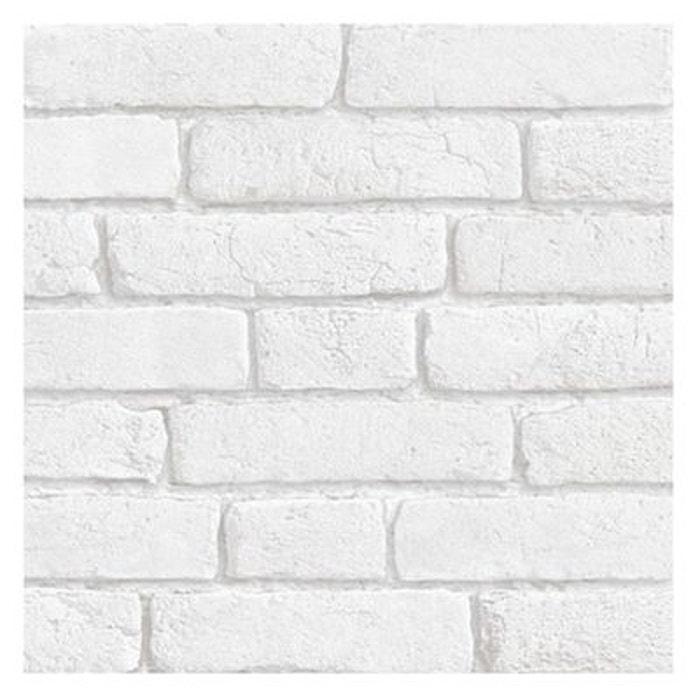 Papier peint briques blanches blanc Koziel | La Redoute