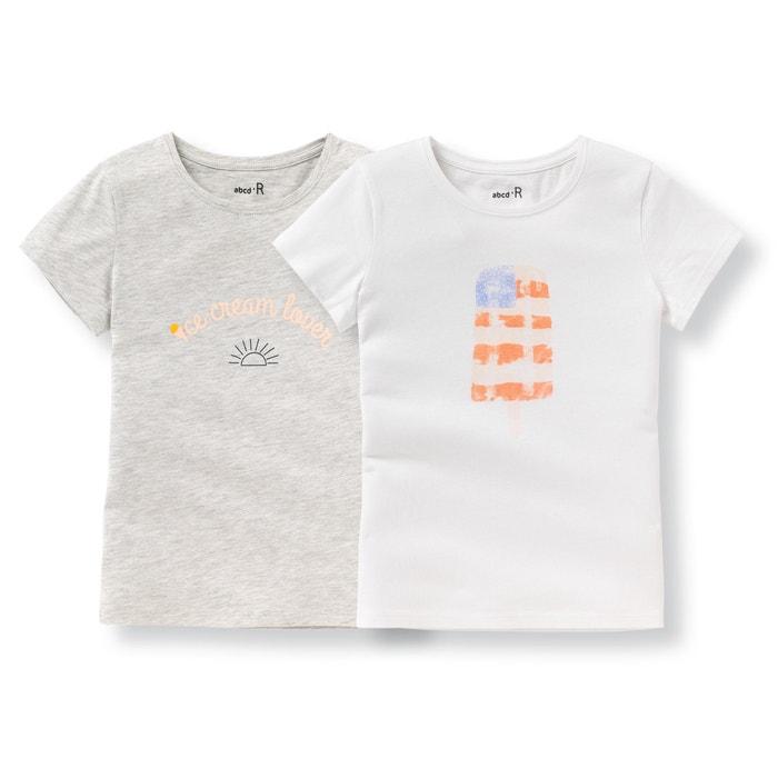 afbeelding Bedrukt T-shirt 3 - 12 jr (set van 2) La Redoute Collections