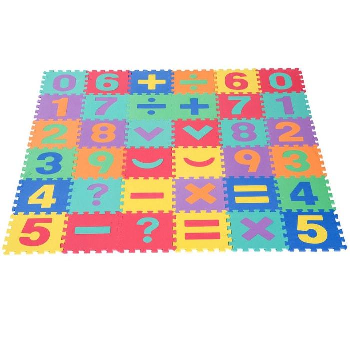 Tapis De Jeu En Mousse Puzzle 36 Pieces Enfants Multicolore Homcom