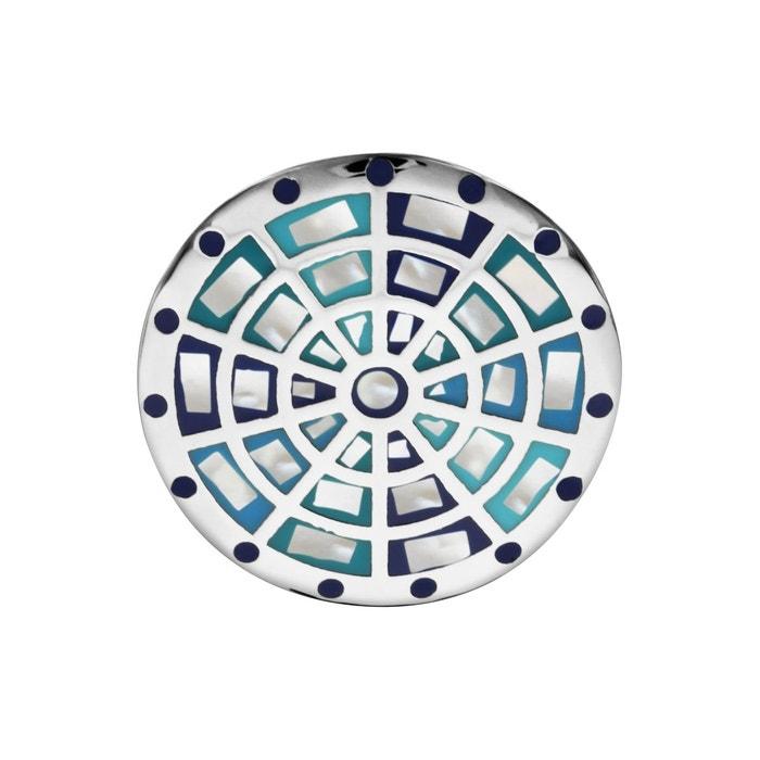 Les Prix De Vente À Bas Prix Prix Pas Cher À Vendre Bague plateau rond motif bleu nacre acier inoxydable couleur unique So Chic Bijoux | La Redoute Offres De Vente À Bas Prix q5aXT1
