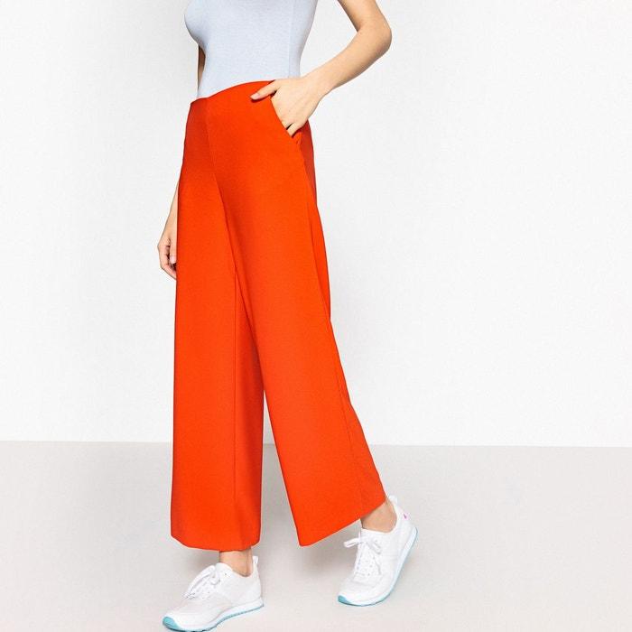 73ea742b488 Pantalon large taille haute orange La Redoute Collections