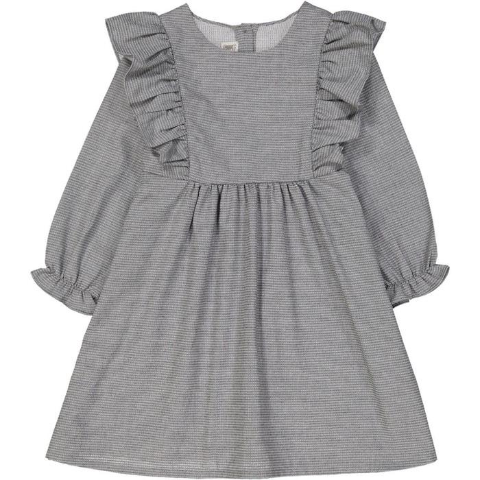 robe fille rayures fines grise bobine la redoute. Black Bedroom Furniture Sets. Home Design Ideas