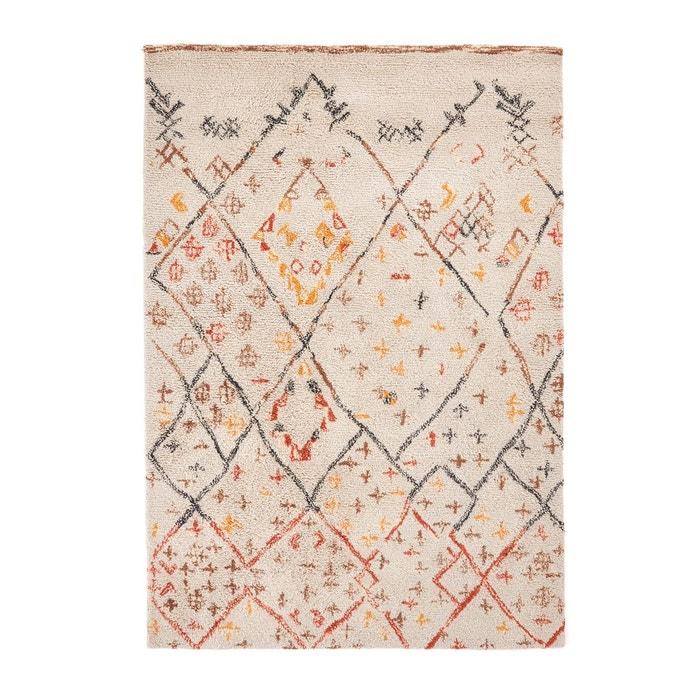tapis style berb re en laine ashwin ecru imprim multicolore am pm la redoute. Black Bedroom Furniture Sets. Home Design Ideas