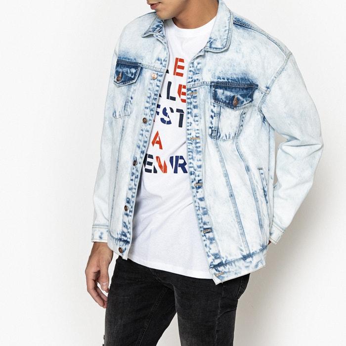 Veste en jean coupe ample impression au dos  La Redoute Collections image 0