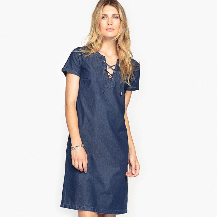 Draping Cotton Denim Dress  ANNE WEYBURN image 0