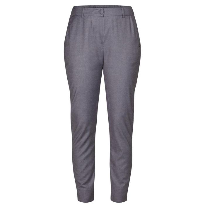 pantalon slim lastiqu la cheville gris bleu numph la redoute. Black Bedroom Furniture Sets. Home Design Ideas