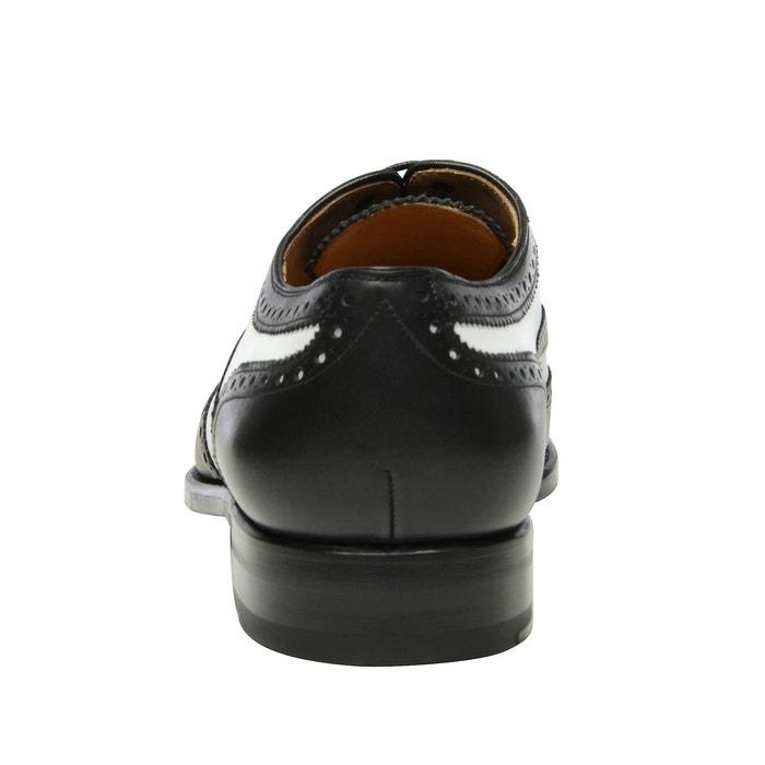 Richelieu full brogue en bicolore noir Shoepassion