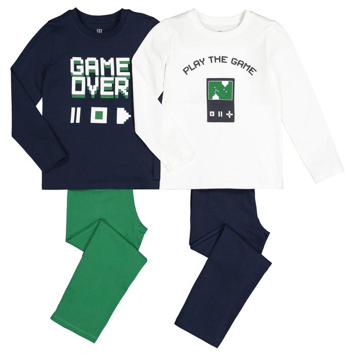 Set van 2 pyjama's in katoen, Game print, 3-12 jaar  LA REDOUTE COLLECTIONS image 0