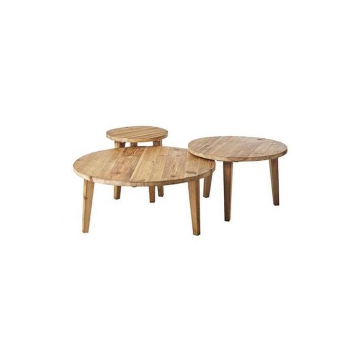 Table Basse Gigogne Bois Massif Neltura Marron Declikdeco La Redoute