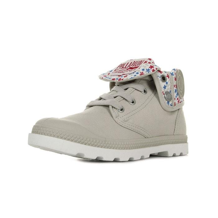 Boots femme baggy low rainy day marshmallow gris + rose + bleu Palladium